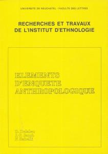 Eléments d'Enquête Anthropologique.